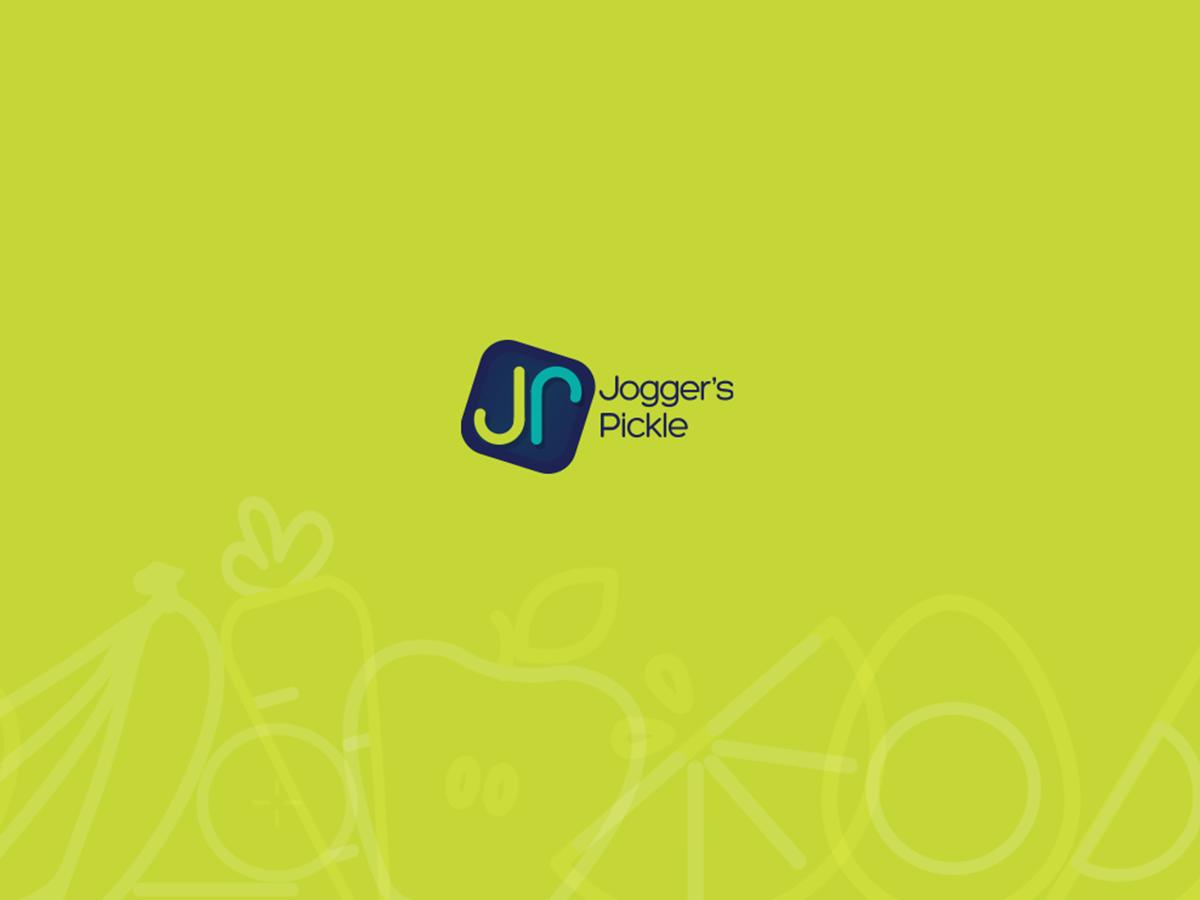Jogger's  Pickle healthy jogging brand guideline brand logo design illustration logo visual guide branding
