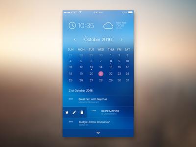 iOS Calendar App calendar ios