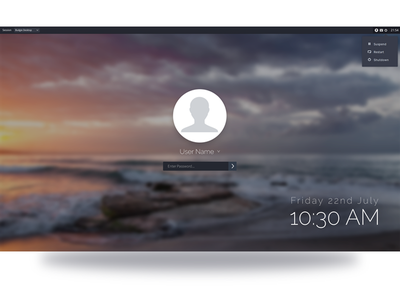 Budgie Desktop Greeter ui open source linux remix solus budgie