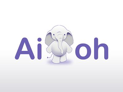 Aioh.co Logo & Branding cute elephant logo