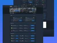 PlayWEG - Team & Profile Page