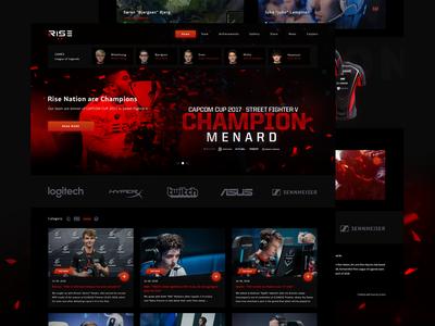 Rise Nation - eSports Team Homepage Design