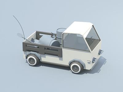 Work truck vehicle utility truck tires snorkel render model camper c4d 4x4 3d