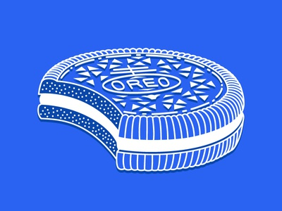 Milk's Favorite Cookie first shot snacks amber designs things amber anderson line drawing vector illustrator blue oreo illustration sweets cookie
