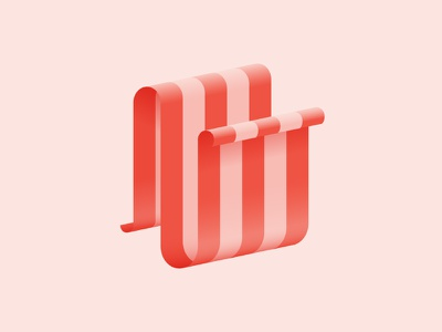 N / 36 Days Of Type 36daysoftype typography type illustration dropcap lettering letter ribbon 3d n