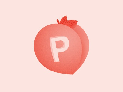 P / 36 Days Of Type 36daysoftype typography type illustration dropcap lettering letter fruit peach p