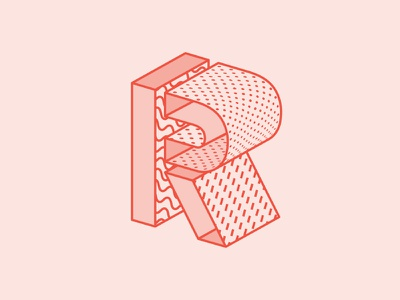 R / 36 Days Of Type 36daysoftype typography type illustration dropcap lettering letter pattern 3d r
