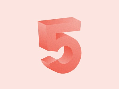5 / 36 Days Of Type 3d 5 letter lettering dropcap illustration type typography 36daysoftype