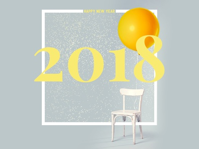 Happy New Year 2018 happy new year 2018 yellow unsplash photoshop design