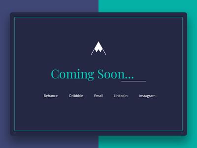 Coming soon portfolio page website fullscreen coming soon portfolio