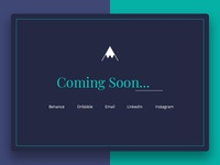 Coming soon portfolio page website fullscreen coming soon portfolio