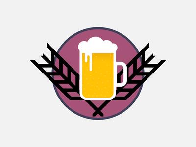 Beer & Barley photoshop illustrator illustration barley beer logo