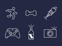 Dribbble icon story instablue