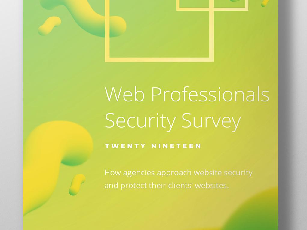 Sucuri Web Professional Security Survey - 2019 website security photoshop illustrator indesign wordpress website security design report report design graphic design illustration