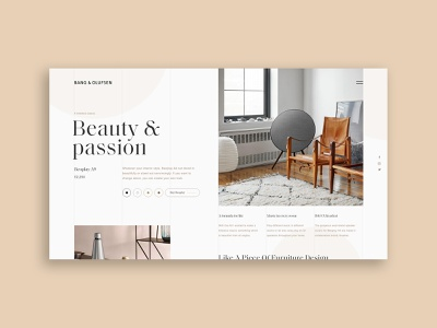 Bang & Olufsen Beoplay editorial furniture music design