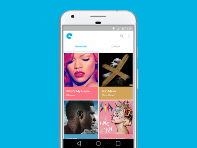 Convert for Mobile — Home convert music downloader android minimal modern music player music downloader