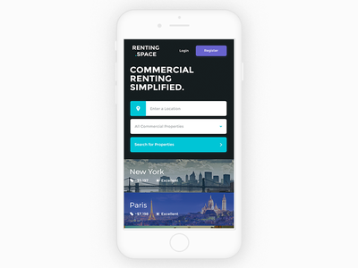 Property Renting — Home renting ios modern minimal flat real estate listing property