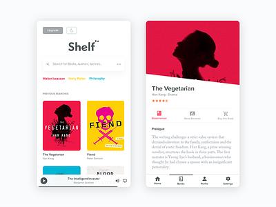 Books — iOS minimal reading ios ux ui clean books