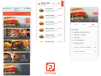 Foodpage App Design menu list of cards rating message bar icons input art home app food ux ui