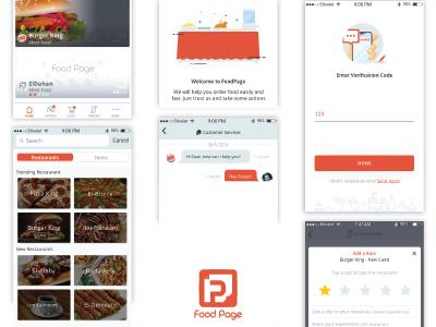 Foodpage App Design rating message bar icons input art home app food ux ui