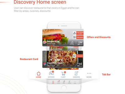 FoodPage bar icons typography colors ui app food