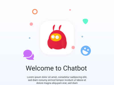 Chatbot || App vector icon illustration branding design logo iphone app icons app icon uiux ui chat app chatbot chat chating