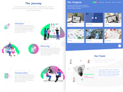 landing Page Design portfolio uidesign ux  ui ux colors website concept webdesign website web ui