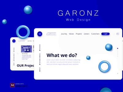 Garonz Web page landing page design landing landingpage website design web design webdesign website web illustration design ux branding ui