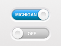 We On Michigan Button