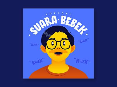 Suara Bebek Podcast Cover Art duck art design illustration graphic design cover art podcast