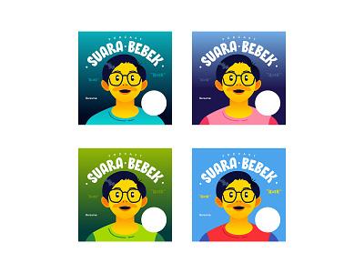 Suara Bebek Podcast Epsiode Cover Templates cover art podcast vector illustration design graphic design