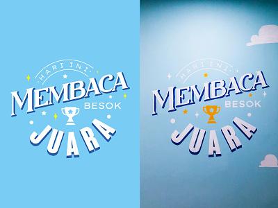 Mural Garasi Baca design typography graphic design mural