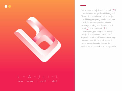 Laruga Initial Challigraphy kufi calligraphy design typography vector graphic design