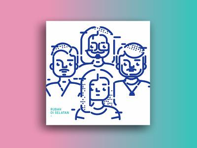 "Fan Art for ""Rubah Di Selatan"" Band art design illustration vector graphic design"