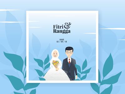 Wedding Invitation: Fitri & Rangga wedding art invitation vector illustration design graphic design