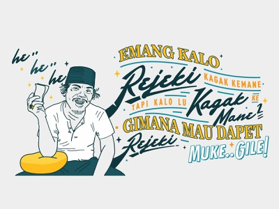 MUKE GILE! art benyamin indonesia mural vector lettering typography graphic design
