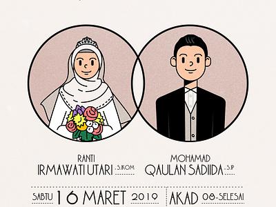 Wedding Invitation: Ranti & Qaulan design vector illustration graphic design