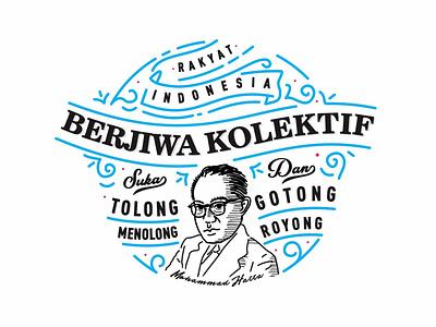 BERJIWA KOLEKTIF art mural lettering design vector illustration typography graphic design