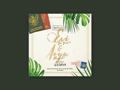 Evi & Arya Wedding Invitation wedding invitation traveling adventure nature art design graphic design