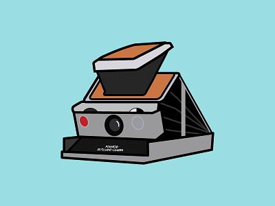 Polaroid SX-70 flat design icon illustration camera film polaroid sx70