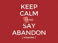 say abandon