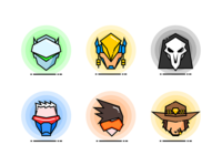 Overwatch Heroes Icons 1