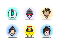 Overwatch Heroes Icons 2