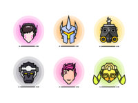 Overwatch Heroes Icons 3