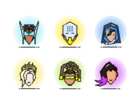 Overwatch Heroes Icons 4