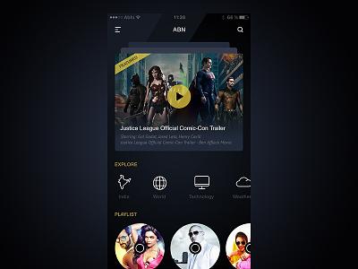 Video Content App ui magazine app mobile content player video