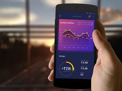 Dashboard account record money data graph statistics finance dashboard savings