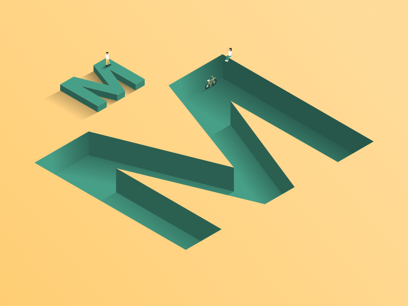M by Rob Tarabčák via dribbble