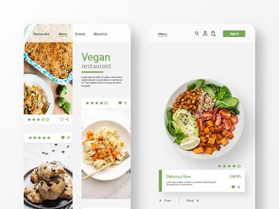 Vegan Restaurent App product design mobile app design ux ui chatbot creative ui ux