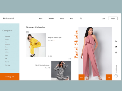Clothing web page design website business clothing fashion photoshoot inspiration web design landing page creative ux ui web branding